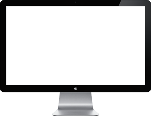 Photographic rendering of a desktop computer monitor